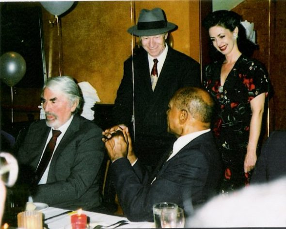 Red and Cassie with Gregory Peck and Tom Bradley