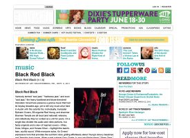 Black Red Black review - Austin Chronicle 9.9.2011