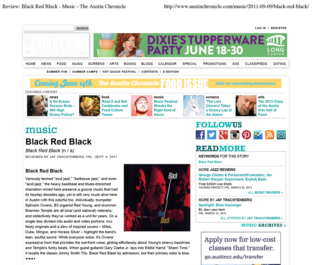 Review: Black Red Black - Music - The Austin Chronicle